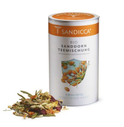 Bio Sanddorn Teemischung Detox aus Österreich mit Bio Sanddornblatt, Bio Sanddornbeere, Sonnenhut und Thymian