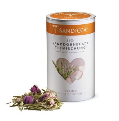 Bio Sanddorn Teemischung Detox aus Österreich mit Bio Sanddornblatt, Rosenblüte und Frauenmantel