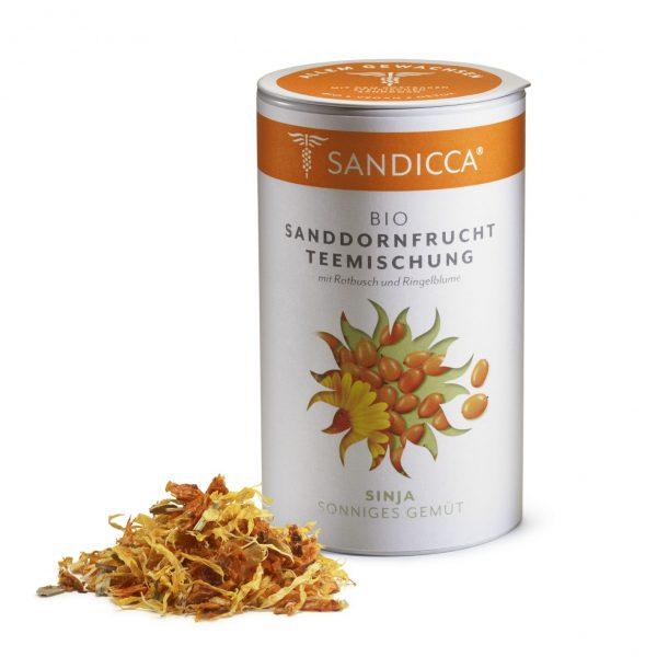 Bio Sanddorn Teemischung Detox aus Österreich mit Bio Sanddornbeere, Rotbusch und Ringelblume