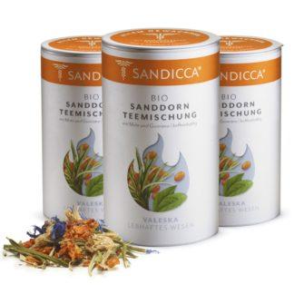 Bio Sanddorn Teemischung Detox aus Österreich mit Bio Sanddornbeere, Bio Sanddornblatt, Guarana und Mate