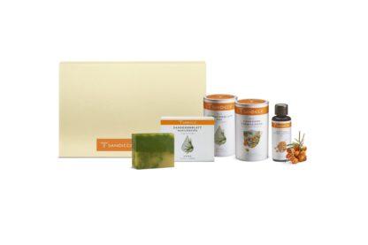 Bio Sanddorn aus Österreich mit Bio Detox Sanddorn Tees, Bio Sanddorn Fruchtfleischöl und Bio Sanddorn Naturseife