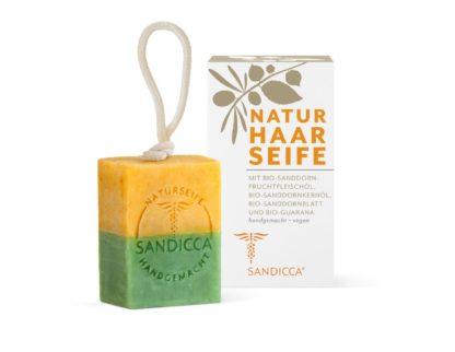 Pflegende Natur-Haarseife mit Bio-Sanddorn und Bio-Guarana